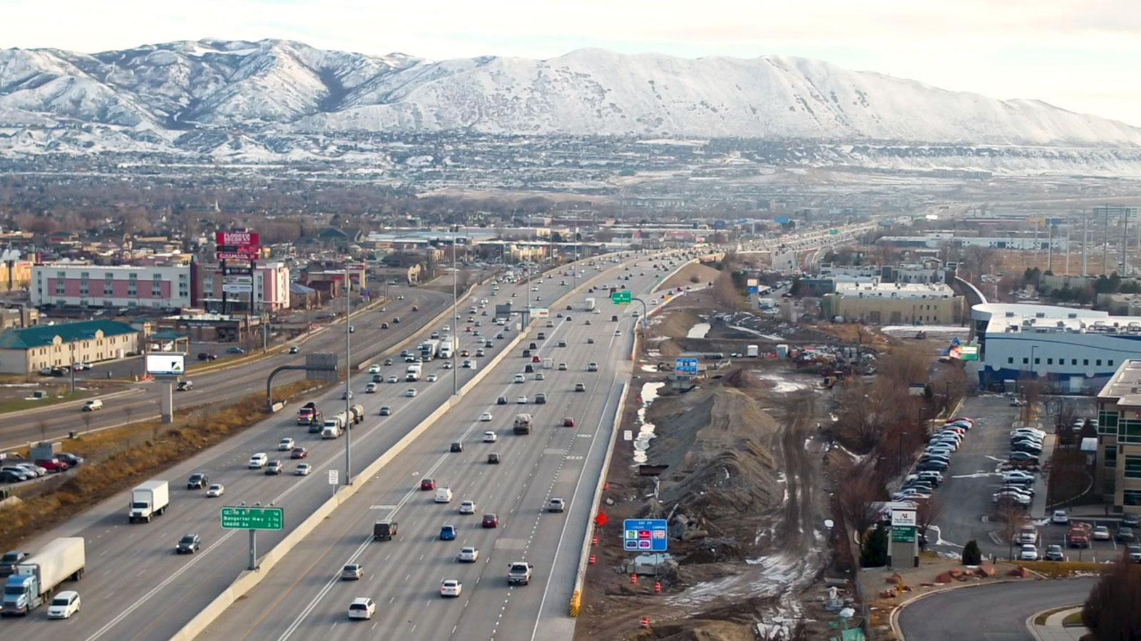 写真:交通局と「Cirrus」のプロジェクトが進む、ユタ州のハイウェイの様子