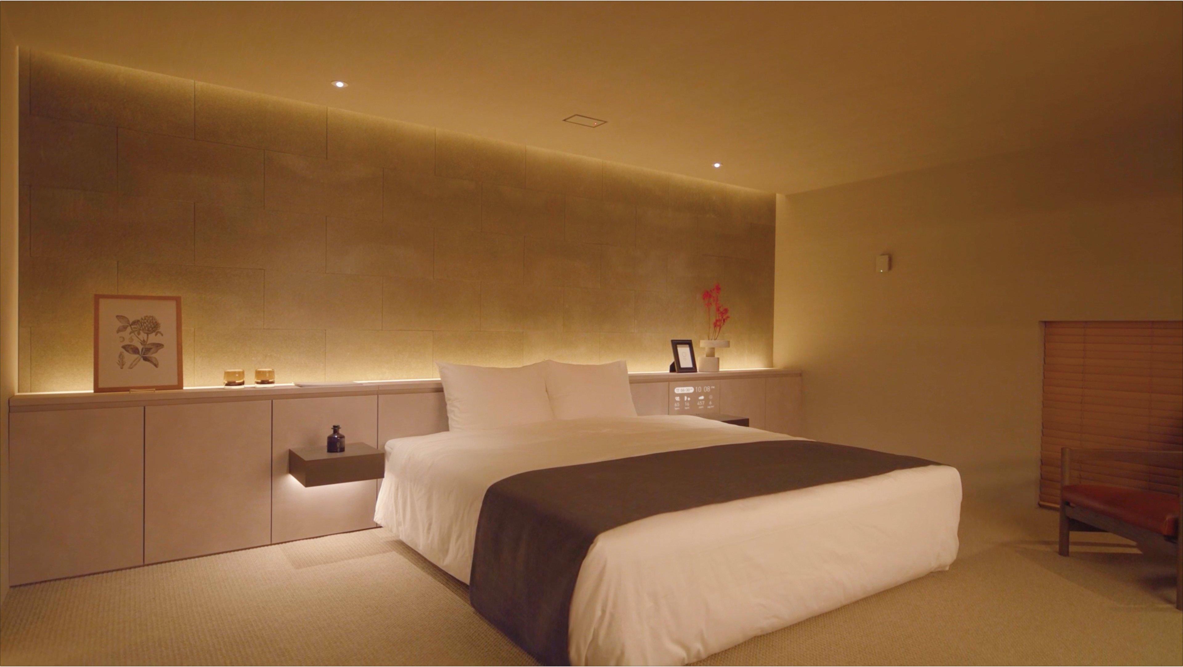 写真:快適な睡眠を促すスマートベットルーム
