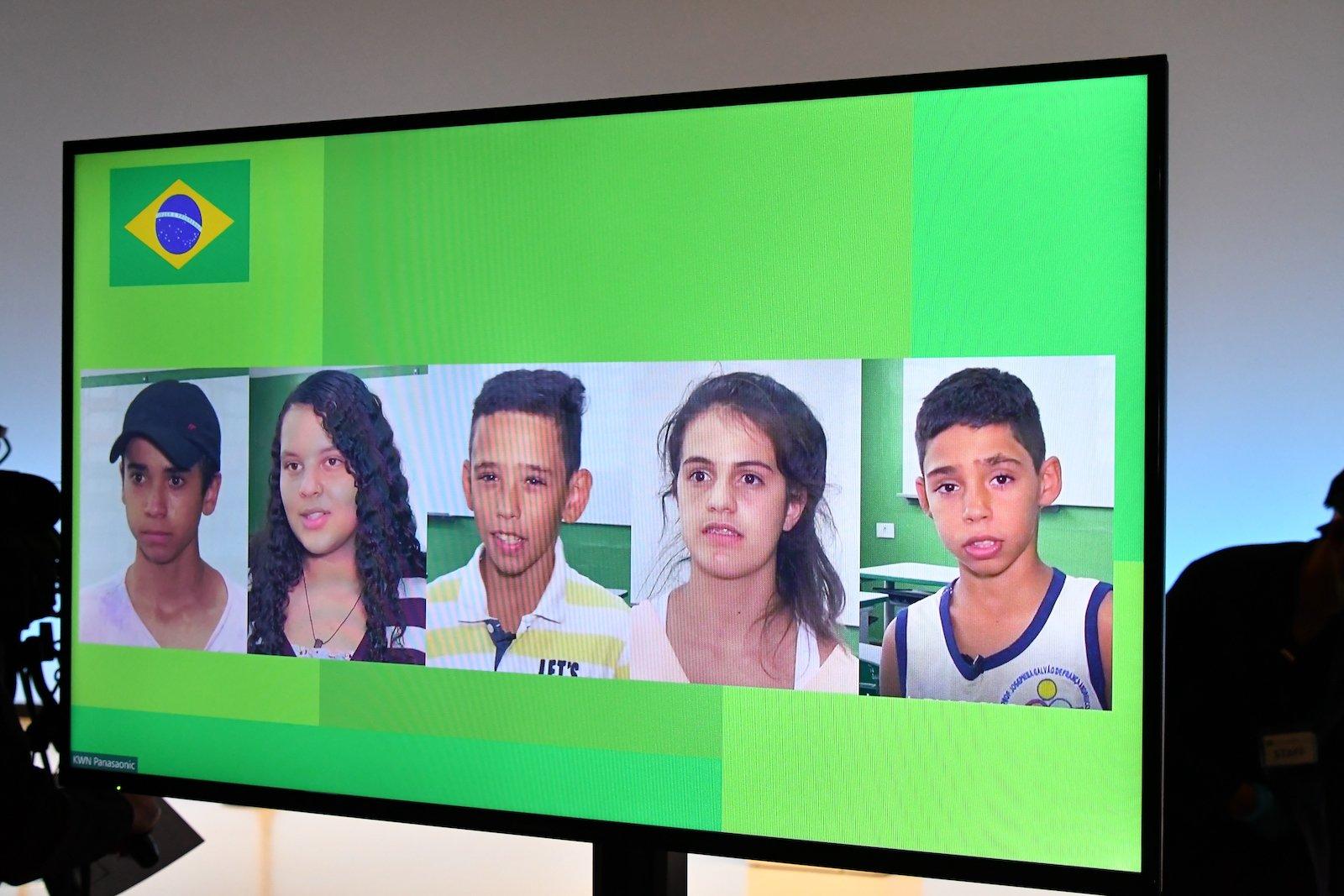 写真:ブラジルから届いたメッセージ