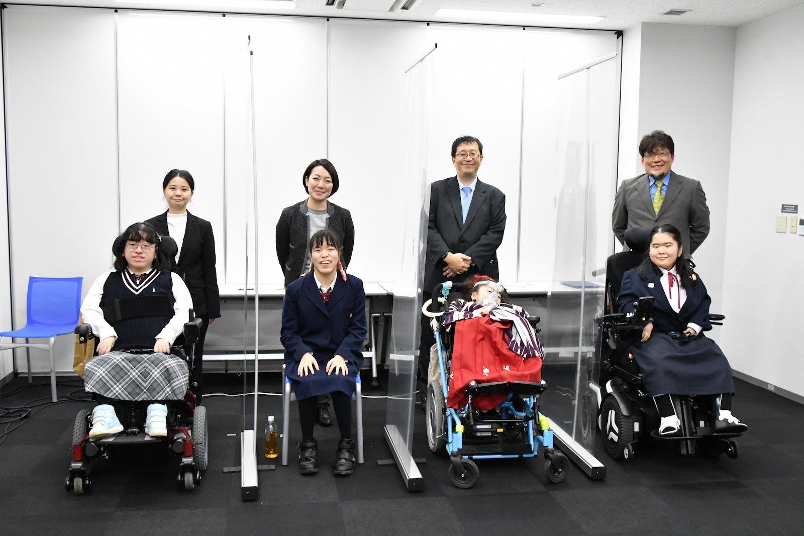 写真:筑波大学附属桐が丘特別支援学校 代表の皆さん