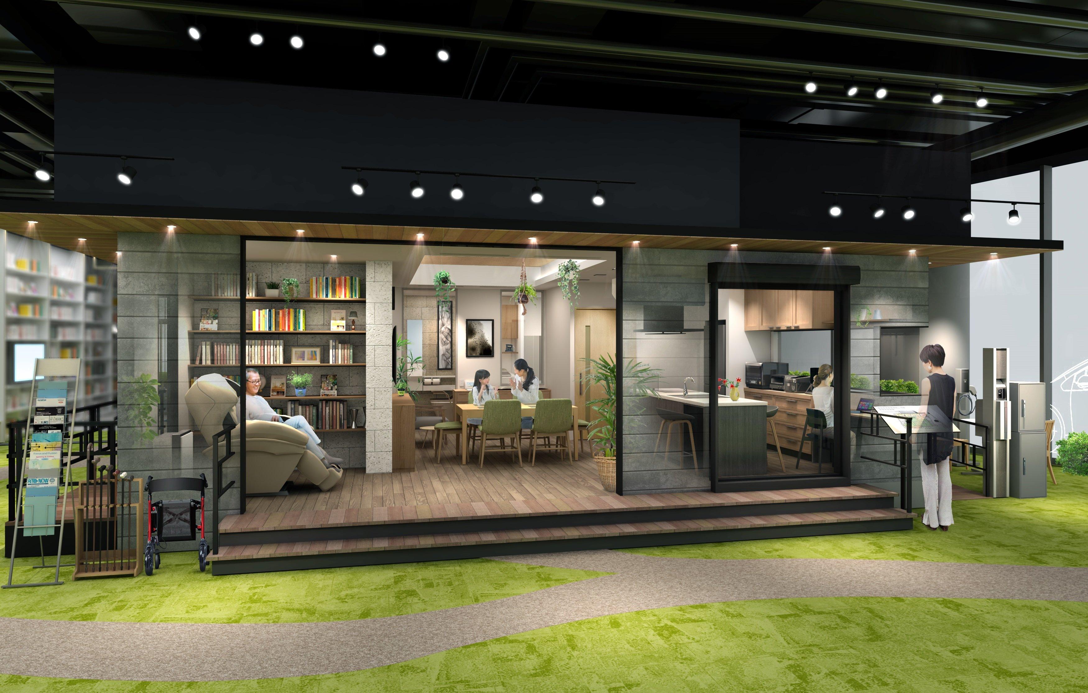 写真:パナソニックセンター大阪の「健康にくらし続けられる家」展示エリア