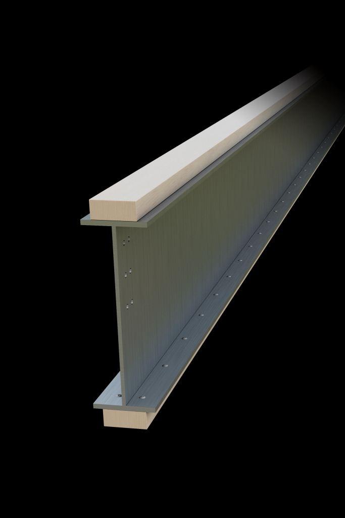大空間を実現する「木+鉄」の複合梁、ロングスパン対応の「グランドテクノビーム」を発売