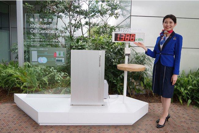 パナソニックセンター東京に展示された純水素型燃料電池