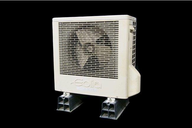 商品写真:横置きスクロール圧縮機搭載ルームエアコン コンパクト室外機 CU-G25V