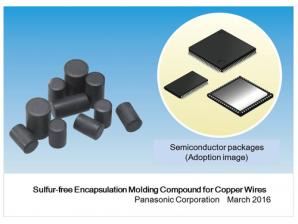 Panasonic Commercializes the Industry's First Sulfur-free Encapsulation Molding Compound for Copper Wires
