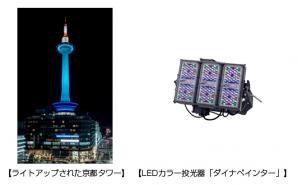 京都タワーのライトアップ用照明器具をLED化