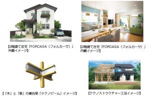 耐震住宅工法「テクノストラクチャー」の2階建て住宅「FORCASA(フォルカーサ)」を発売