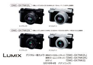 デジタルカメラ Lumix GX7 Mark II を発売