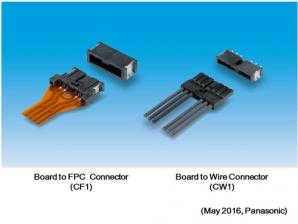 Panasonic Develops Two Types of Connectors for Connecting In-vehicle LED Lamp Modules to Boards