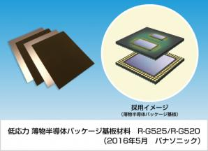 低応力 薄物半導体パッケージ基板材料 R-G525/R-G520