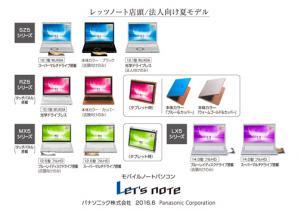 モバイルノートパソコン「Let's note」個人向け店頭/法人向け 夏モデル