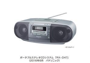 ポータブルステレオCDシステム RX-D47を発売