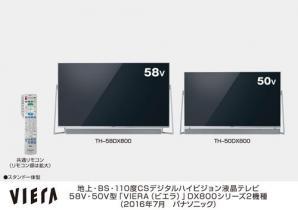 4Kビエラ DX800シリーズ 2機種を発売