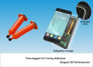 Time-lagged UV Curing Adhesive