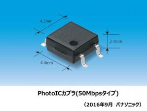 産業機器などの高速通信に適したフォトカプラ「PhotoICカプラ」を製品化