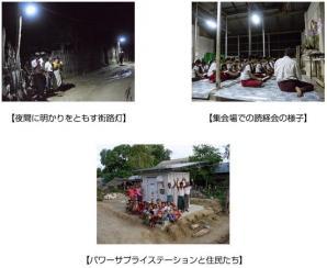 ミャンマーの無電化村に太陽光独立電源パッケージ「パワーサプライステーション」を納入
