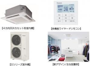 業務用エアコン4方向天井カセット形室内機を5シリーズ新発売