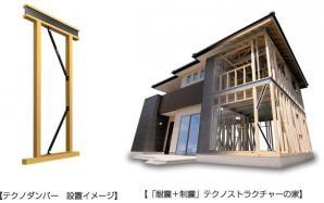 耐震住宅工法「テクノストラクチャー」専用の制震システム「テクノダンパー」を開発