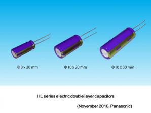 Panasonic Commercializes Industry's First 2000-hour Guaranteed Electric Double Layer Capacitor as a Radial Lead Type