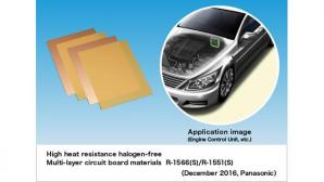 Panasonic Commercializes High Heat Resistance Halogen-free Multi-layer Circuit Board Material for Automotive Use