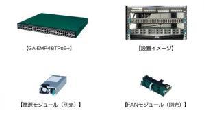 PoE Plus給電スイッチングハブ「GA-EMR48TPoE+」を発売