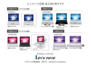 モバイルパソコン 「Let's note」 個人店頭/法人向け 春モデル