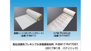 低伝送損失 フレキシブル多層基板材料 R-BM17/R-F705T