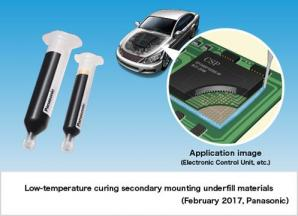 Panasonic Develops Low-temperature Curing Secondary Mounting Underfill Material that Improves Mounting Reliability of Automotive Parts