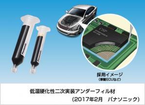 車載部品の実装信頼性を向上させる「低温硬化性二次実装アンダーフィル材」を開発