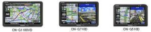 CN-G1100VD、CN-G710D、CN-G510D