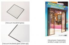 [Vacuum insulated glass],[Vacuum insulated glass (close-up)],[Hussmann Corporation product usage concept]
