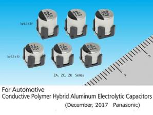 Panasonic Commercializes an Automotive, High Vibration Acceleration-Resistant, Conductive-Polymer Hybrid Aluminum Electrolytic Capacitor