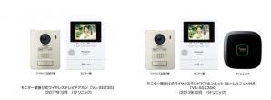 モニター壁掛け式ワイヤレステレビドアホン VL-SGZ30/SGZ30Kを発売