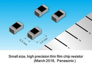 Panasonic to Commercialize a 0402 Size, High Precision Thin Film Chip Resistor with the Most Robust Electro-Static Discharge (ESD) Protection
