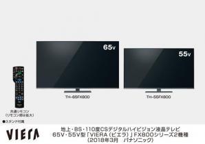 4Kビエラ FX800シリーズ 2機種を発売