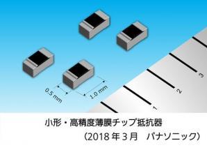業界最高の耐静電気放電(ESD)性能の「小形・高精度薄膜チップ抵抗器」を製品化