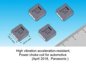 Panasonic Commercializes a High Vibration Acceleration-resistant, Power Choke Coil for Automotive Use