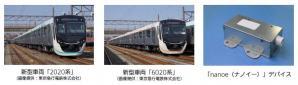 「nanoe(ナノイー)」発生装置を東京急行電鉄株式会社の新型車両「2020系」「6020系」向けに納入