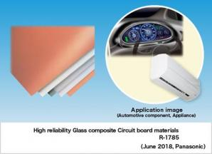 Panasonic Develops Glass Composite Circuit Board Material that Improves Parts Mounting Reliability