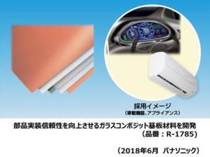 部品実装信頼性を向上させるガラスコンポジット基板材料を開発