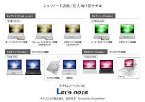 モバイルパソコン 「Let's note」 個人店頭/法人向け 夏モデル発売