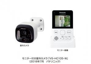 ホームネットワークシステム 「スマ@ホーム システム」モニター付き屋外カメラ VS-HC105を発売