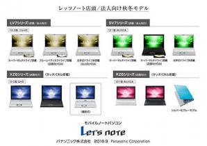 モバイルパソコン「Let's note」個人店頭/法人向け秋冬モデル発売