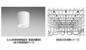 「LED非常用照明器具 電源別置型」に直付型高照度タイプを追加