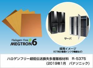 通信インフラ機器用ハロゲンフリー対応 多層基板材料(Halogen-free MEGTRON6)を製品化