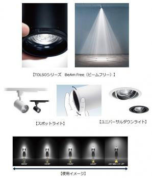 配光調整機能付 演出照明「TOLSO BeAm Free(ビームフリー)」を発売