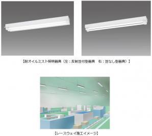 JIS規定の切削油に対応、工場向け「耐オイルミスト照明器具」を発売