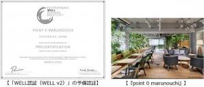 日本のコワーキングオフィス初 コワーキングスペース「point 0 marunouchi」が 「WELL認証」の予備認証を取得