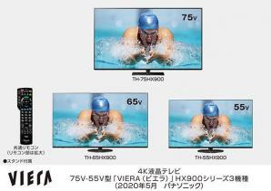 4Kダブルチューナー内蔵ビエラ HX900シリーズ3機種を発売