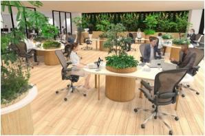 健康経営ソリューション『COMORE BIZ』においてテクニクスを採用した、緑と音による空間ソリューションの提供を開始